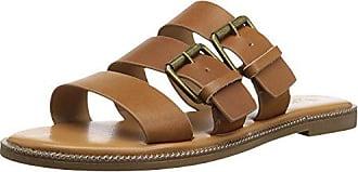 Franco Sarto Womens KASA Flat Sandal, tan, 5 M US