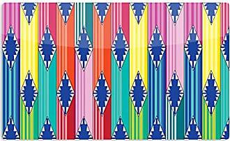 KESS InHouse Anneline SophiaBlanket Rainbow Tribal Artistic Aluminum Magnet, 2 by 3, Multicolor
