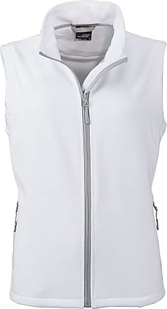 James & Nicholson Ladies Softshell Vest and Leisure (XXL, White/White)