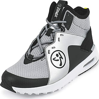 Zumba Air Classic Remix High Top Fitness Workout Dance Shoes for Women, Black/Silver, 8.5 UK
