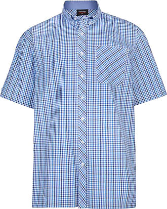 Espionage Blue Check SH263 2XL to 5XL