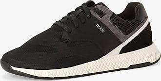 BOSS Herren Sneaker mit Leder-Anteil - Titanium schwarz