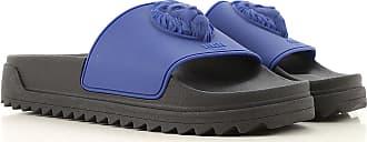Versace Flip Flops for Men On Sale, Cobalt Blue, Rubber, 2017, 10 6.5