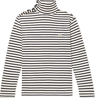 Loewe Striped Cotton Rollneck Sweater - Cream