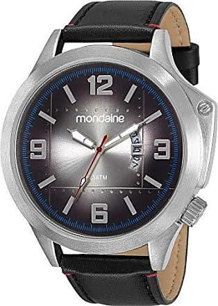 Mondaine Relógio Mondaine Masculino Preto 83376G0MVNH1 Analógico 3 Atm Cristal Mineral Tamanho Grande