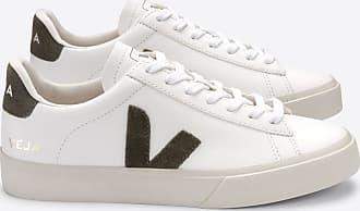 Veja Campo Extra White Khaki Chromfreies Ledertrainer Damen - 37