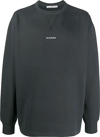 Acne Studios logo print crew neck sweatshirt - Black