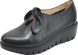 Wonders A-33159 Sauvag Black Leather Loafer with Medium Wedge Black Size: 8 UK