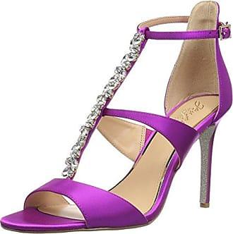 Badgley Mischka Jewel Womens MICA Heeled Sandal, Violet Satin, 6 M US
