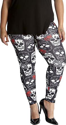 Nouvelle Collection Halloween Sugar Skull Leggings Black 16-18