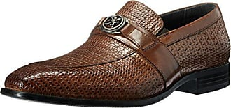 Stacy Adams Mens Mannix-Moc Toe Bit Slip-on Loafer, Cognac, 7 M US
