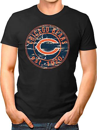 OM3 Chicago-Badge - T-Shirt | Mens | American Football Shirt | XL, Black