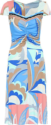 Emilio Pucci Printed silk-blend midi dress