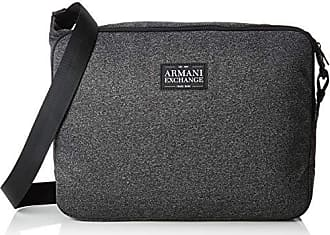 a376918cd7 Armani Zip Messanger - Borsa Messenger Uomo, Nero (Dark Grey/Black),