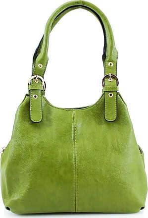 Craze London New Womens Multiple Pockets Medium Size Long Strap Shoulder Bag,bag with strap womens and lady bags long shoulder (Dark Green)