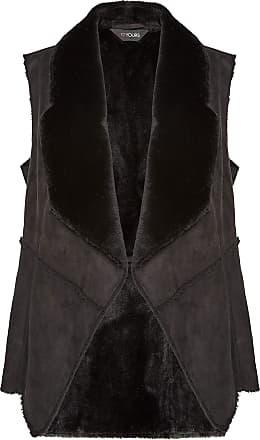 Yours Clothing Clothing Womens Sleeveless Shearling Gilet Faux Fur UK Plus Size Size 22-24 Black