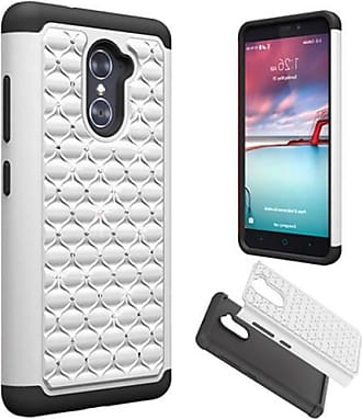 Mundaze Mundaze White Diamond Double Layered Case for ZTE Grand X Max 2 Imperial MAX
