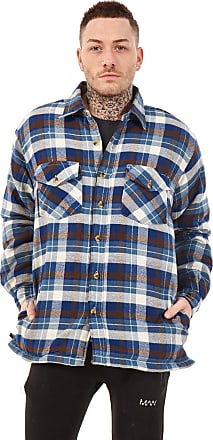 JD Williams Mens Flannel Padded Work Shirt Yarn Dyed Quilted Lumberjack Jacket Regular & Big