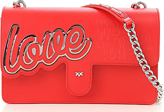 Pinko Shoulder Bag for Women On Sale, Red, Leather, 2017, one size