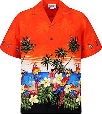 eb17a7511 Pacific Legend PLA Original Hawaiian Shirt Parrot Orange with black, 3XL