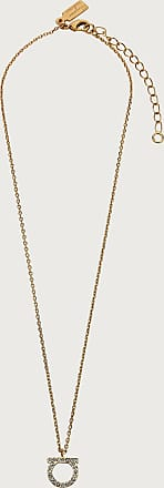 Salvatore Ferragamo Women Large Gancini crystals necklace Gold