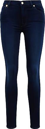 7 For All Mankind Jeans HW Skinny Dunkelblau