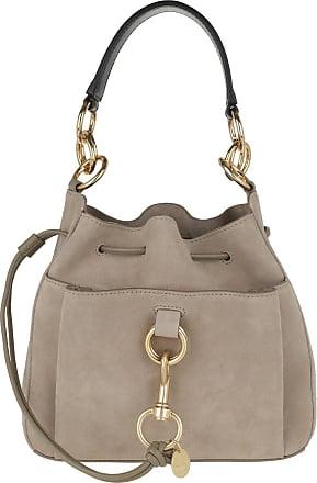 See By Chloé Bucket Bags - Tony Bucket Bag Medium Leather Motty Grey - grey - Bucket Bags for ladies