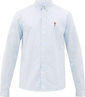 Ami Ami - Ami De Coeur Cotton-oxford Shirt - Mens - Light Blue