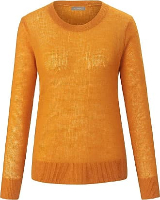 include Rundhals-Pullover include gelb