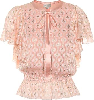 Temperley London Top Suki aus Brokat