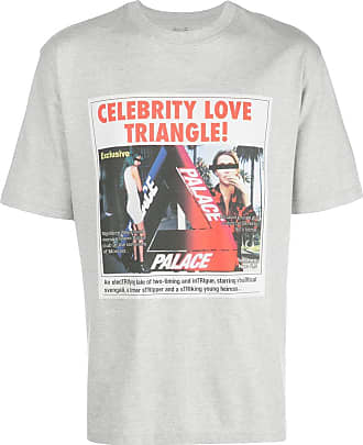 Palace Camiseta Love Triangle - Cinza