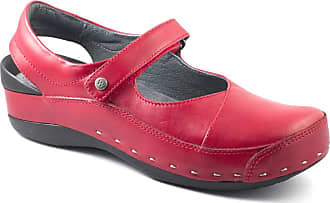 Wolky Womens Strap Cloggy Red Size: 4 UK