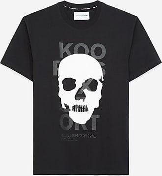 The Kooples Black T-shirt in cotton with skull motif - MEN