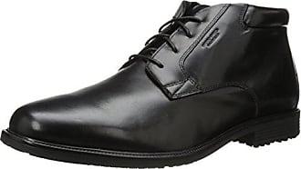 Rockport Mens Essential Details Waterproof Dress Chukka Boot, Black, 9.5 XW US
