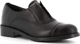 Generico Made in Italy Leather Shoes with Elastic - Black Black Size: 8 UK