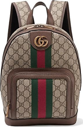 f197e23e169 Gucci Ophidia Small Textured Leather-trimmed Printed Coated-canvas Backpack  - Beige
