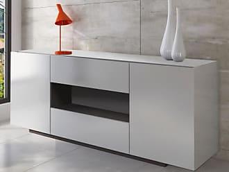 Vente-unique.ch Sideboard Malik - 2 Türen & 2 Schubladen - Weiß