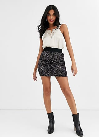 & Other Stories jacquard print co-ord mini skirt in navy