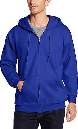Hanes Mens Full Zip Ultimate Heavyweight Fleece Hoodie, Deep Royal, Medium