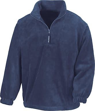 Result Unlined Active 1/4 Zip Anti-Pilling Fleece Top (2XL) (Navy Blue)