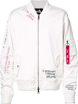 Haculla Skribble bomber jacket - White