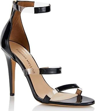 Tamara Mellon Frontline Black Patent Sandals, Size - 35.5