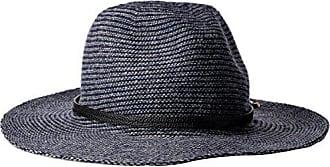 c383b93c Vince Camuto Womens Heathered Panama Hat Logo Band, Navy, One Size