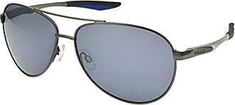 Reebok Mens Rbs 7 Polarization Aviator Prescription Eyewear Frame, Gun Metal, 61 mm