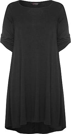 Yours Clothing Clothing Womens Plus Size Swing Dress Size 26-28 Black