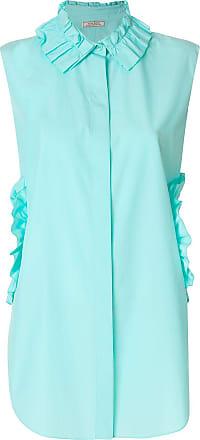 Nina Ricci cut out ruffle detail shirt - Azul