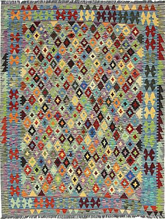 Nain Trading 200x157 Kilim Afghan Rug Dark Grey/Dark Brown (Afghanistan, Handwoven, Wool)