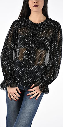 Dolce & Gabbana Frilled Pois Printed Blouse size 40
