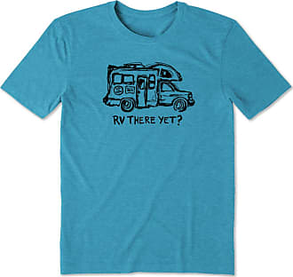 Life is good Mens RV There Yet Cool Tee XXXL Seaport Blue