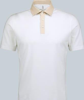 Brunello Cucinelli Jersey-Poloshirt mit Kontrastkragen